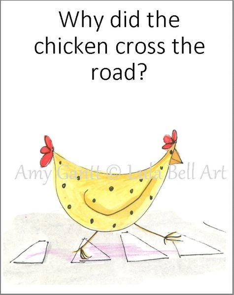 Covid Chicken Crossing birthday Greeting Card