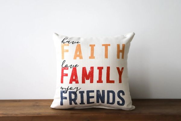 Little Birdie -Faith Family Pillow