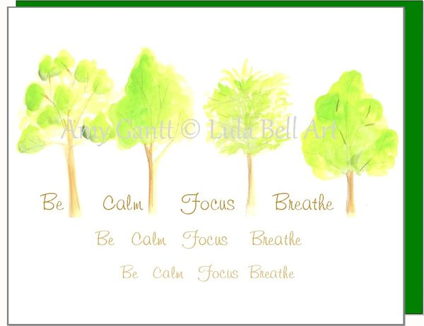 Blank - Be Calm Trees Greeting Card