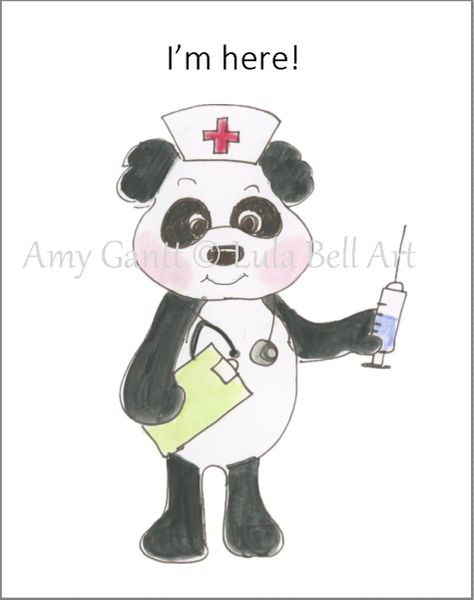 Covid Card - Panda Medic Greeting Card