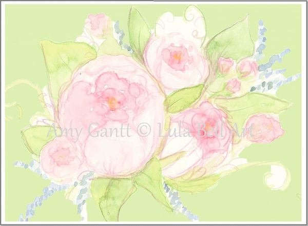 Peony Bouquet Boxed Note Cards