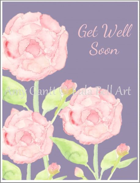 Get Well - Pink Carnations Greeting Card