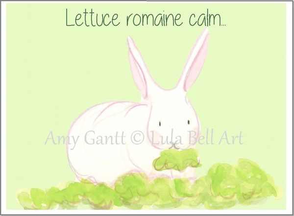 Cope - Bunny Lettuce Greeting Card