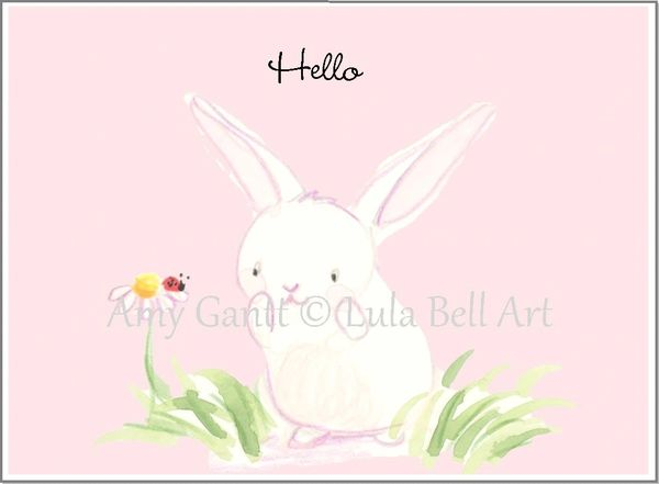 Bunny, Ladybug and Daisy Boxed Note Cards