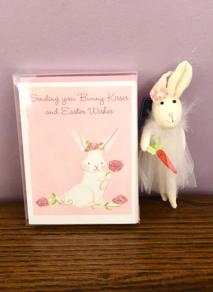 Bunny Rose Box set with Bunny Ornament