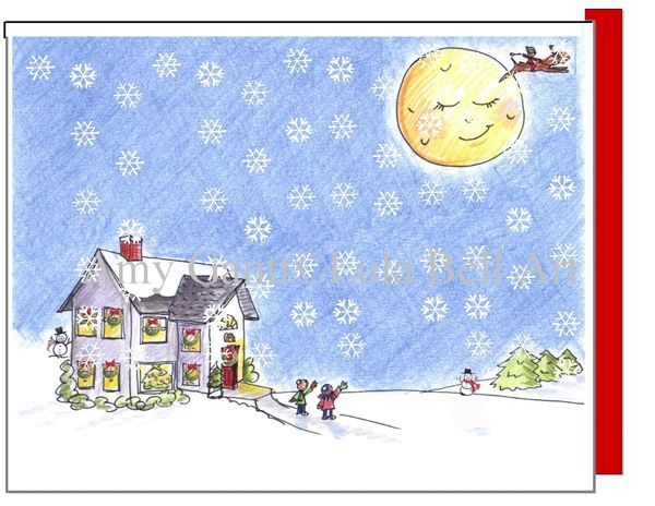 Christmas - Christmas Eve Snow Card