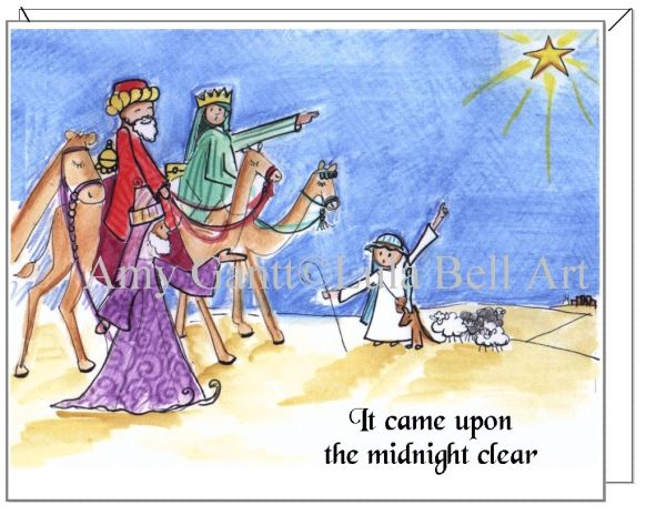 "Christmas - ""It came upon a midnight Clear"" Card"