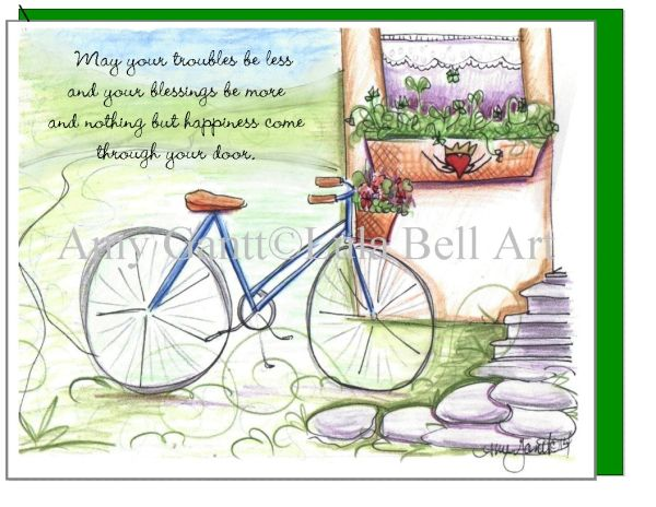 Irish Blessing Bike Boxed Note Cards