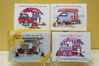Vintage Camper Boxed Note Card Gift Set