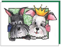 Princess and Buddy Schnauzer Boxed Note Cards