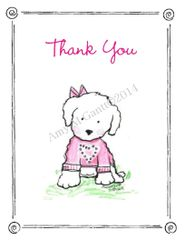 Thank You - Sweet Puppy Boxed Cards