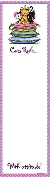 Cats Rule with Attitude Magnetic List Pad