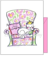 Diva Cat Boxed Note Cards