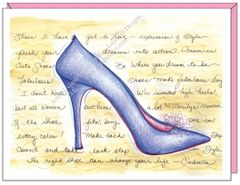 Cinderella Shoe Boxed Note Cards