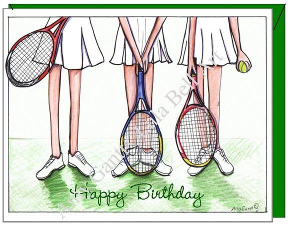 Birthday - Tennis Trio Greeting Card