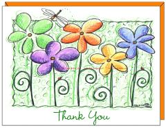 Thank You - 5 Flowers 5 Friends Boxed Note Cards