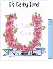 Derby- It's Derby Time - Win Show Place Boxed Note Cards