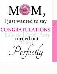 Mother's Day - Perfect Mom Greeting Card