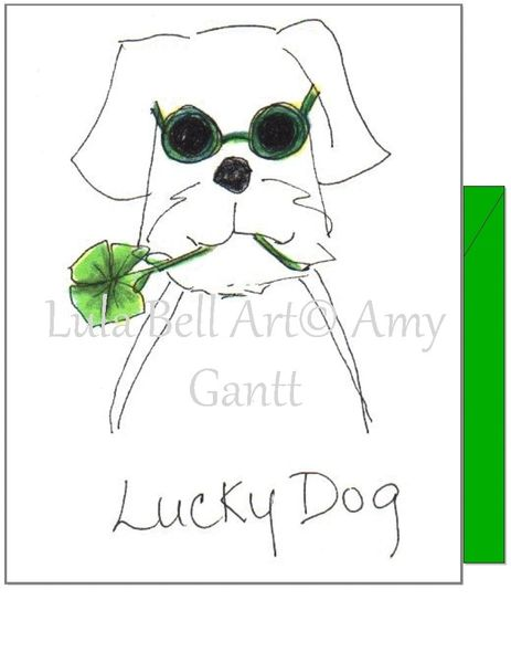 St. Patrick's Day - Lucky Dog Greeting Card