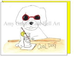 Birthday - Cool Dog Greeting Card