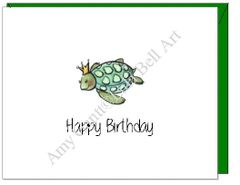 Birthday - Ocean Turtle Greeting Card