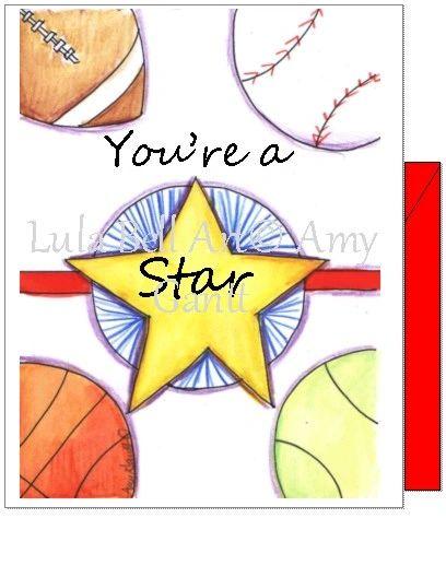 Birthday - Sports Star Greeting Card