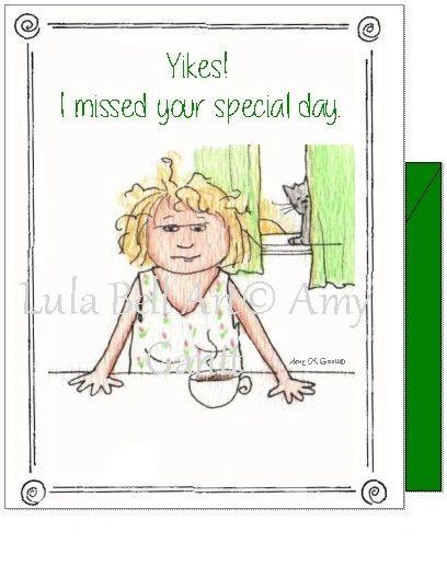 Birthday Belated - Cranky Lady Belated Birthday Greeting Card