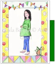 Expecting - Expecting Brunette Greeting Card