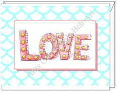 Blank inside - Love and Lights Greeting Card