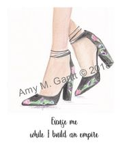 Excuse me While I build an Empire Shoe Note Cards