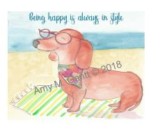 Dachshund Day Note Cards