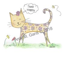 Happy Cat Note Cards