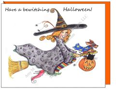 Halloween - Matilda Witch Greeting Card