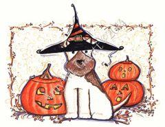Halloween - Dog Howl-O-Ween Greeting Card