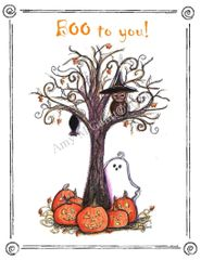Halloween - Boo to You Greeting Card