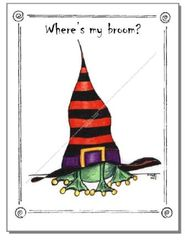Halloween - Halloween Frog Greeting Card