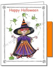 Halloween - Witchy Poo Greeting Card