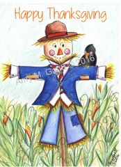 Thanksgiving - Scarecrow Boy Greeting Card