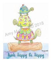 Turtle Trio Note Cards