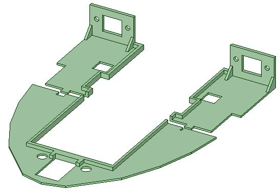 FX-61 Phantom Main Tray w/ RJ45 Mounts