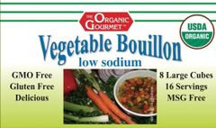 Organic Low Sodium Vegetable Bouillon Cubes