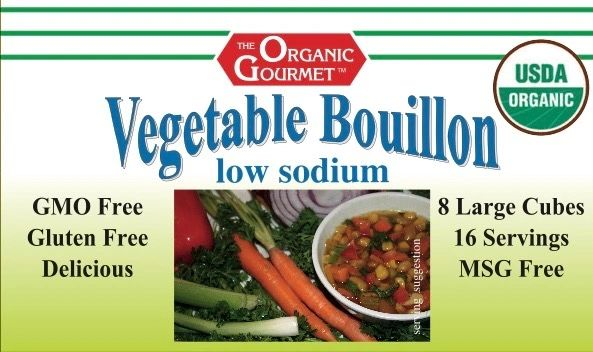 Organic Low Sodium Vegetable Bouillon Cubes *Please order no more than 12, we are running low.