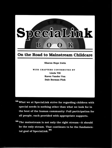 The SpeciaLink Book — On the Road to Mainstream Childcare