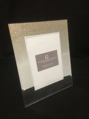 Beautiful gold glitter ombre photo frame 5x7