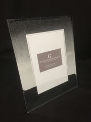 Beautiful black and silver glitter ombre effect photo frame 5x7