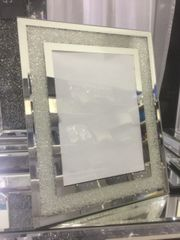 Beautiful mirror and silver sparkle photo frame 5x7