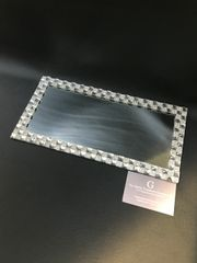 Stunning Mirror & crystal candle plate holder - small