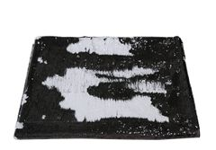 Beautiful Mermaid sequin bed throw - Black & White