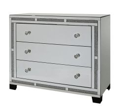 Beautiful Crystal crackle & mirror 3 drawer cabinet