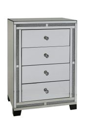 Beautiful crystal crackle & mirror 4 drawer cabinet